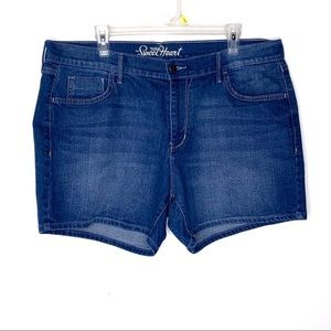 Old Navy Sweetheart Denim Shorts Deep Sea 16 Reg